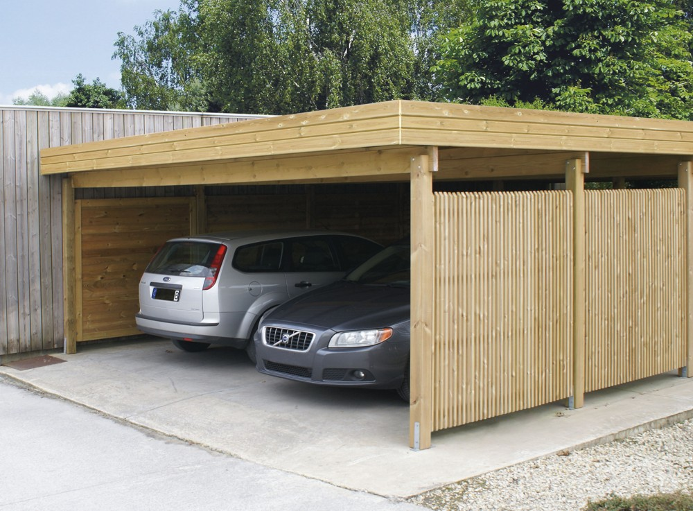 Tuinhuizen carports horta for Carports and garages