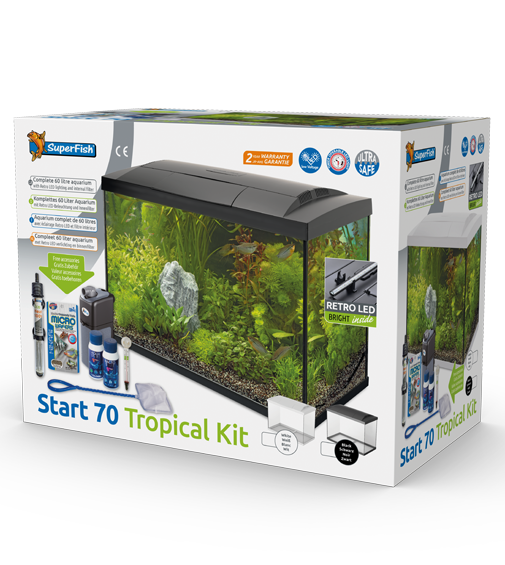 Superfish Start 70 - Tropical Aquarium Kit