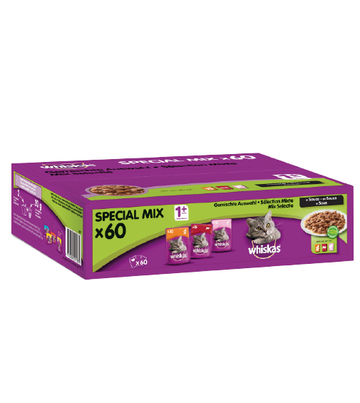 Whiskas 1 + Pouches Multipack